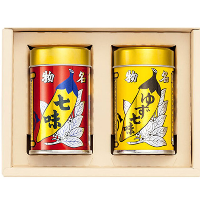 八幡屋礒五郎 唐からしセット2缶YC-21