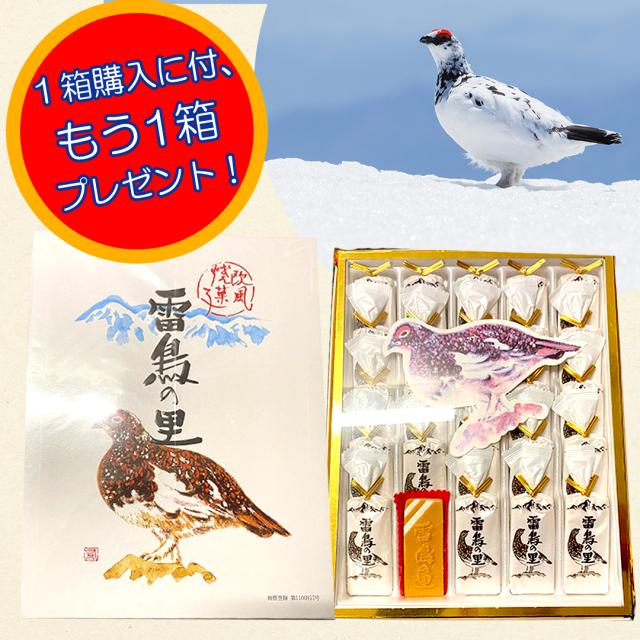 雷鳥の里 25枚入 【訳あり】【1箱購入でもう1箱プレゼント】