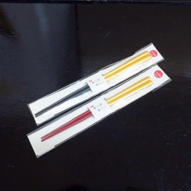 金の箸 銀の箸 しずく(金L/金M)セット