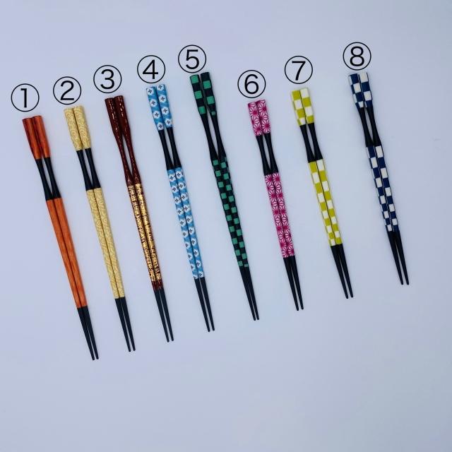 越前塗杵型多久島箸 ◆選べる5膳セット◆