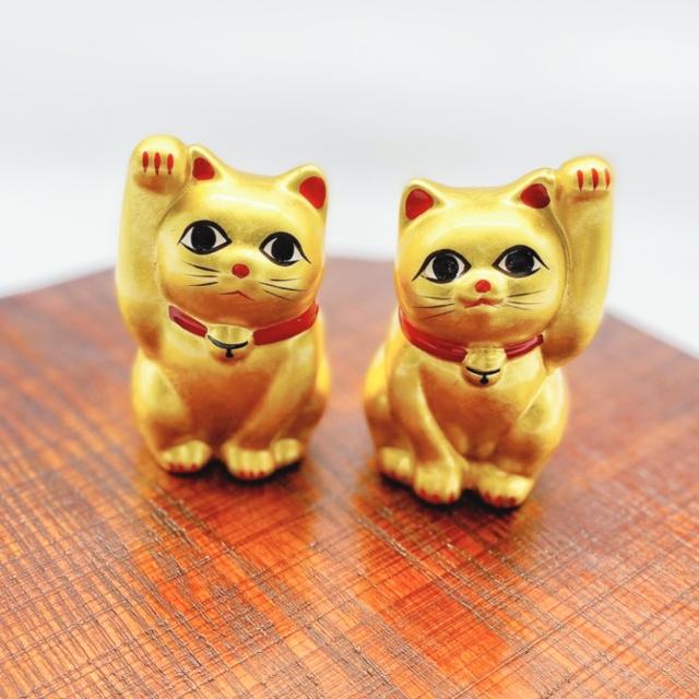 九谷焼ペア招き猫金2.8号純金仕上げ