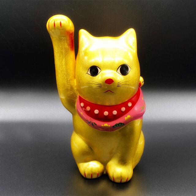 九谷焼招き猫金8号純金仕上げ
