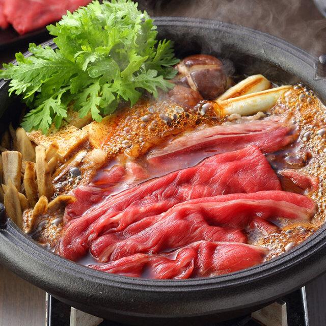 鳥取和牛もも肉スライスすき焼き用(冷凍)<送料無料>