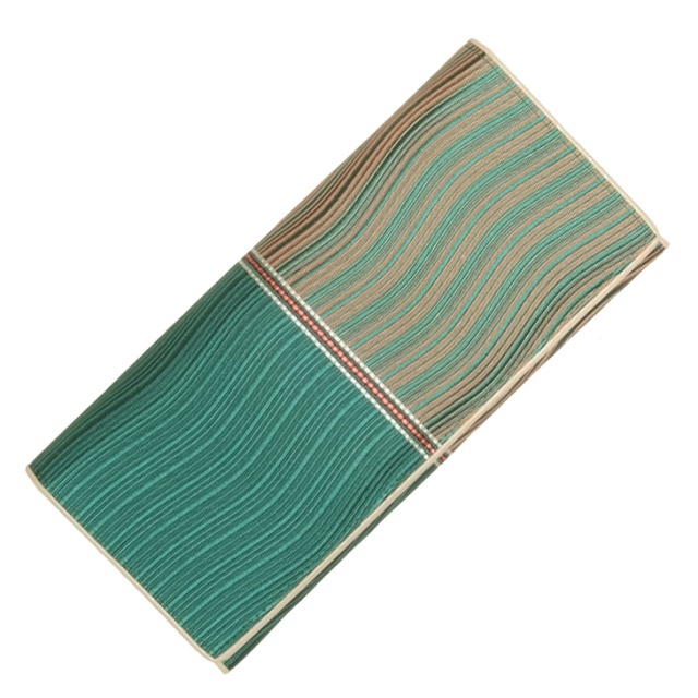 博多織 波筬 長財布(グリーン)