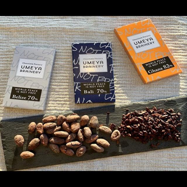 Bean to BAR 産地別カカオ豆のチョコレート3種食べ比べ(沖縄・離島配送不可)