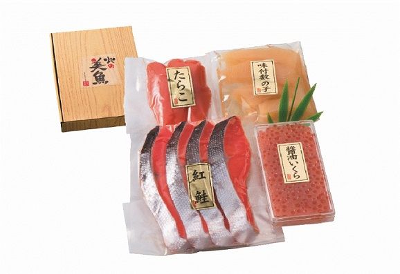 紅鮭・魚卵詰合せS-06