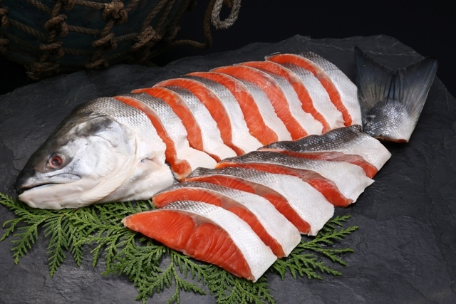 塩紅鮭姿切身-A1尾6分割2kg