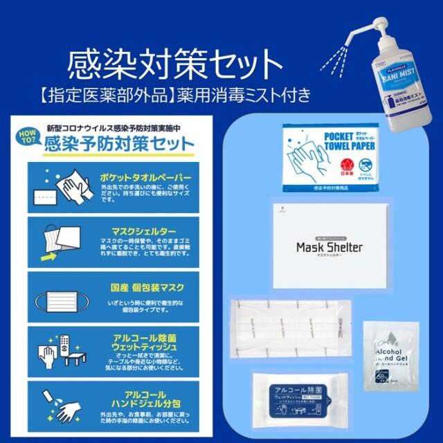 感染対策セット+【指定医薬部外品】薬用消毒ミスト