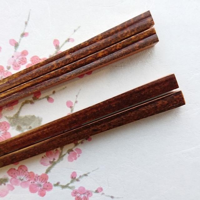 黒竹 お箸 箸置き