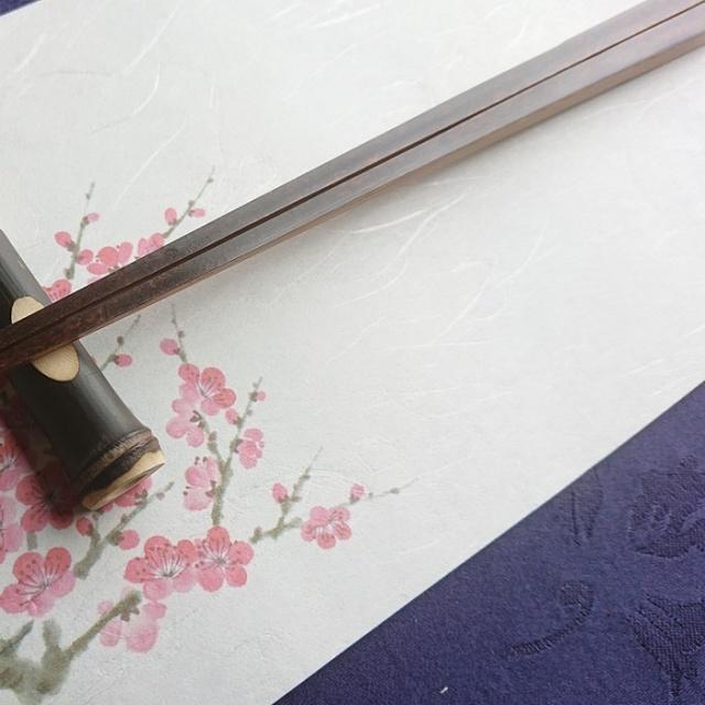 黒竹 箸 箸置き