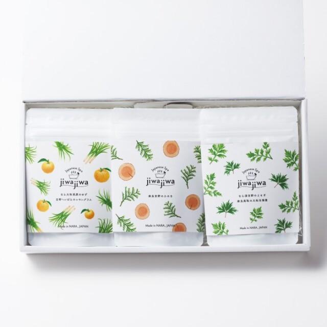 jiwajiwa ギフト詰め合わせ お風呂のハーブ3個入×3種類セット(ひのき・ゆず・よもぎ)