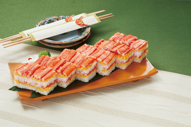 紅ずわいがに二段押し寿司★