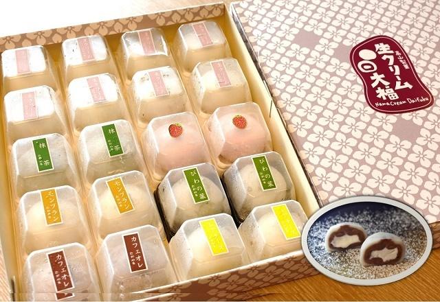 「高山製菓」さんの生クリーム大福