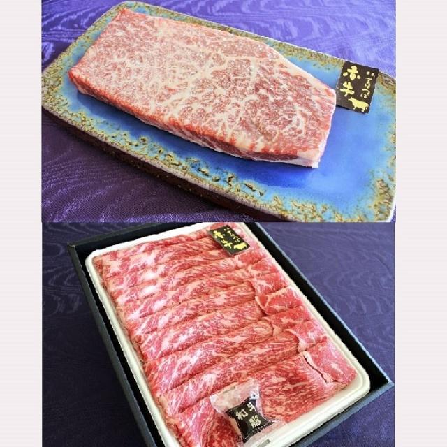 まほろば赤牛モモステーキ&すき焼き用セット