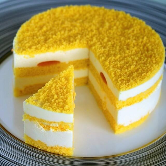みかんレアチーズケーキ