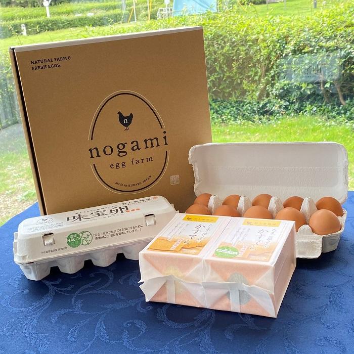 野上養鶏場の味宝卵とカステラのセット