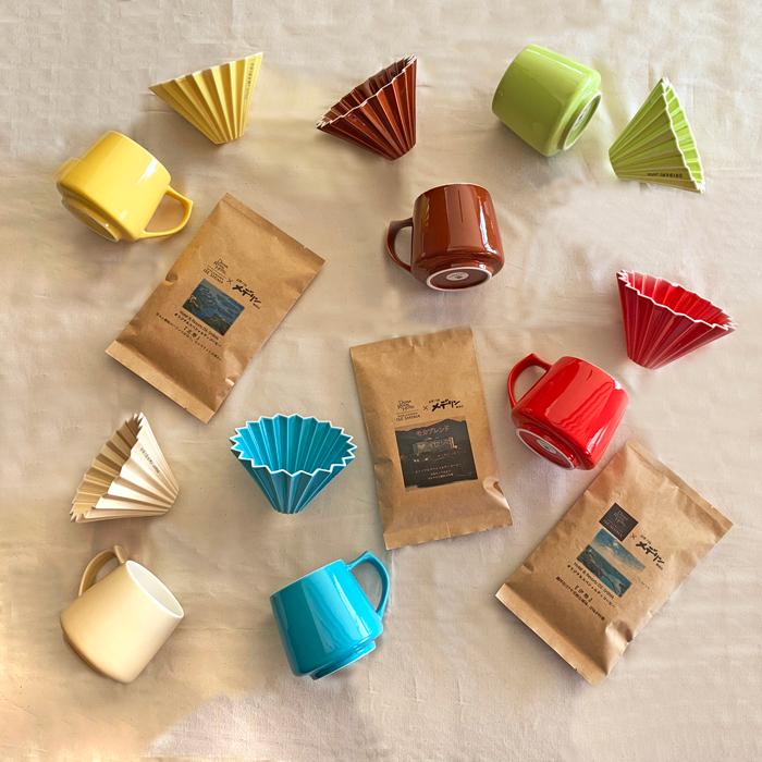 バリスタの声から生まれた『オリガミドリッパー』と、ホテルオリジナルブレンドコーヒー豆3種類の家飲みコーヒーセット