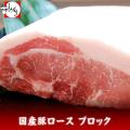 国産豚ロースブロック500g【焼肉・トンカツ・贈答】【冷凍発送】