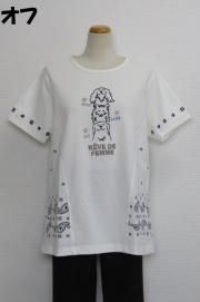 212-1006 ペーズリープリント半袖Tシャツ (綿97%、ポリウレ3%) サイズ:M・L・XL