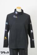 194-1003 ハイネック 長袖Tシャツ (綿44%、レーヨン44%、ポリウレタン12%) サイズ:M・L・XL