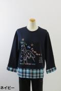 183-1001 長袖 切り替えTシャツ (綿95%、ポリウレ5%) サイズ:M・L・XL