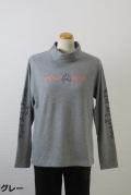 184-1008 秋冬兼用 ハイネック 長袖Tシャツ (綿95%、ポリウレ5%) サイズ:M・L・XL