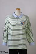 192-1001 長袖ポロシャツ (綿95%、ポリウレ5%)