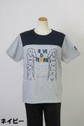 192-1007 綿100% 切り替え半袖Tシャツ  サイズ:M・L・XL
