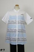 192-2005 綿100% Aライン半袖ブラウス サイズ:M・L・XL