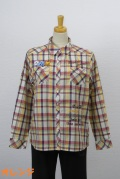 193-2003 綿100% チェックブラウス サイズ:M・L・XL