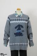 194-3002 ノルディック柄セーター (アクリル55%、ナイロン30%、ウール15%)
