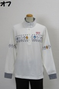 202-1001 長袖ポロシャツ (綿95%、ポリウレ5%)