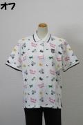 202-1003 半袖 総柄ポロシャツ (綿95%、ポリ5%) サイズ:M・L・XL・XXL