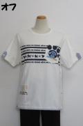 212-1010 ボーダープリント半袖Tシャツ (綿92%、ポリウレ8%)