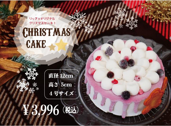 【Christmas cake(1段)】[28品目アレルゲン不使用ケーキ]アイスクリーム 牛乳不使用 豆乳不使用 プレゼント ギフト 贈り物 お祝い  贈答用  アイスケーキ  ケーキ 100%植物性アイスクリーム