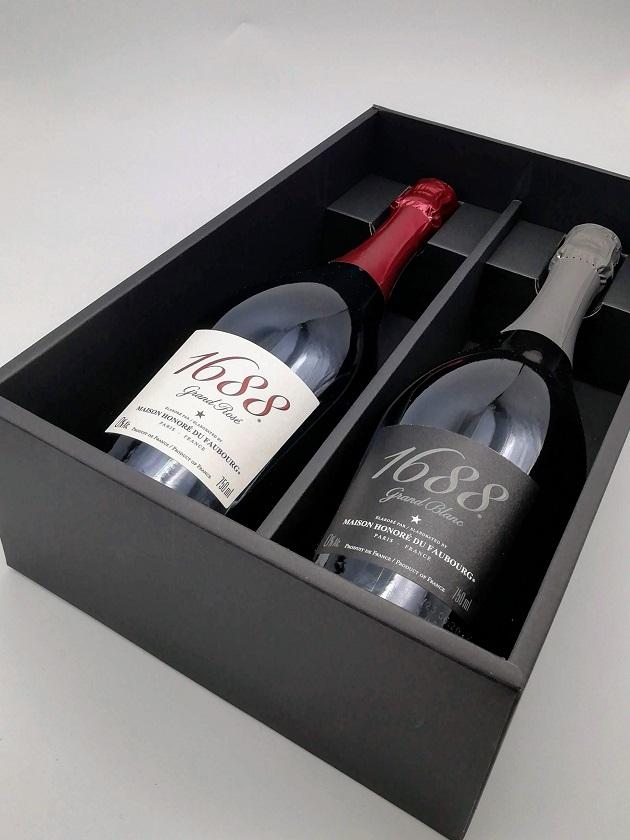 1688グランロゼ・ブラン紅白2本セット(ノンアルコールスパークリング)