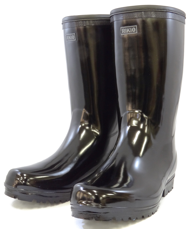 力王 紳士用長靴 軽半長 B015 ブラック