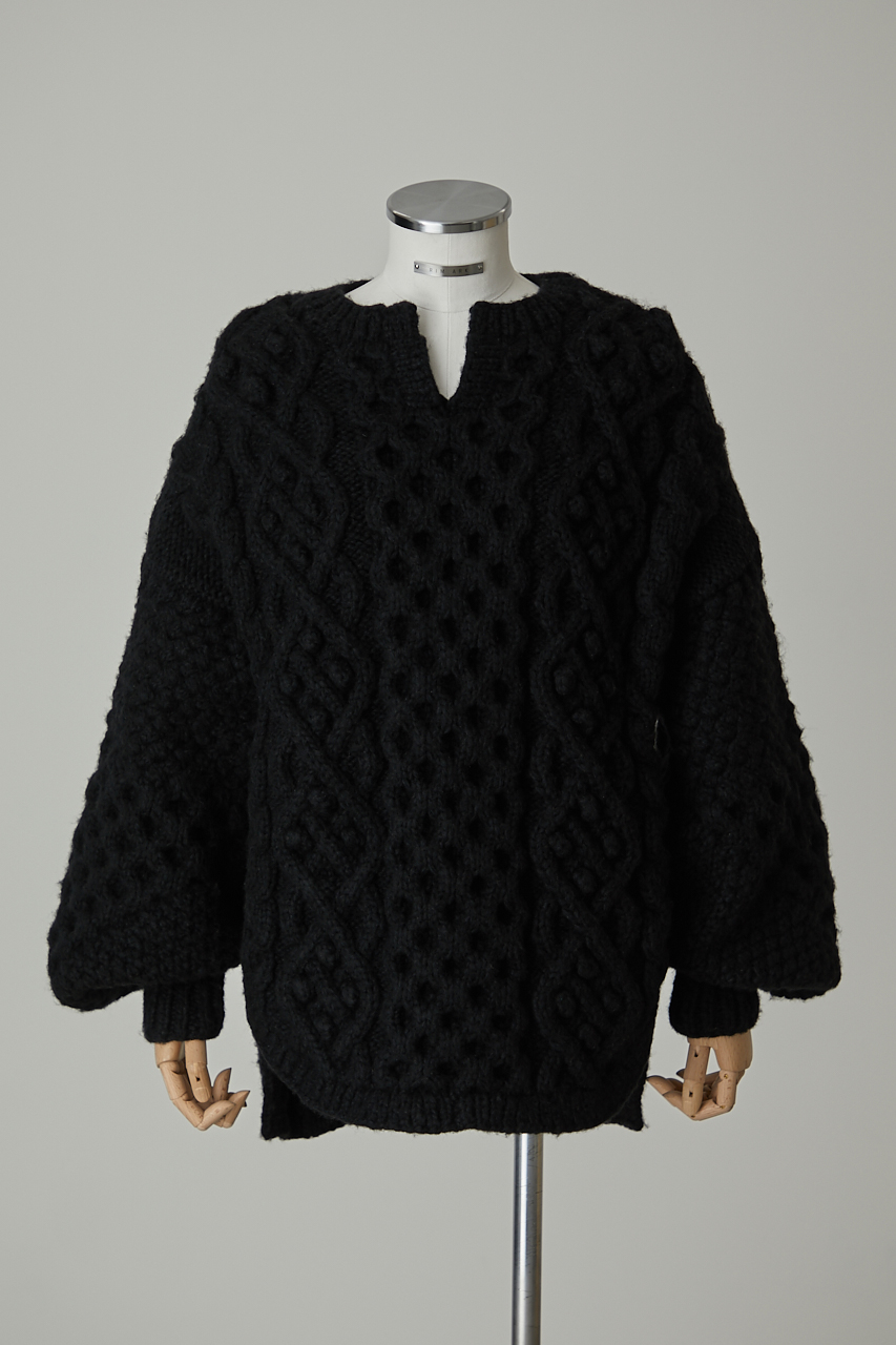 Various fabric over knit tunic