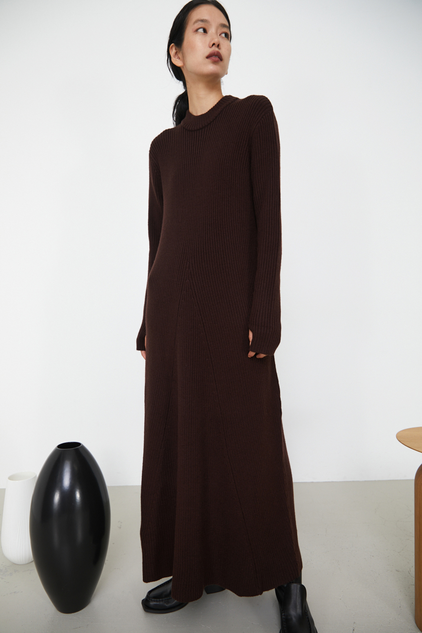 High neck flare knit OP
