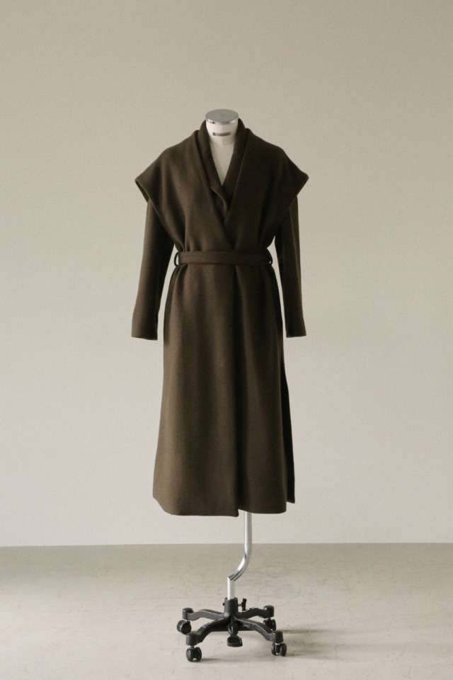 2Way wool gillet coat