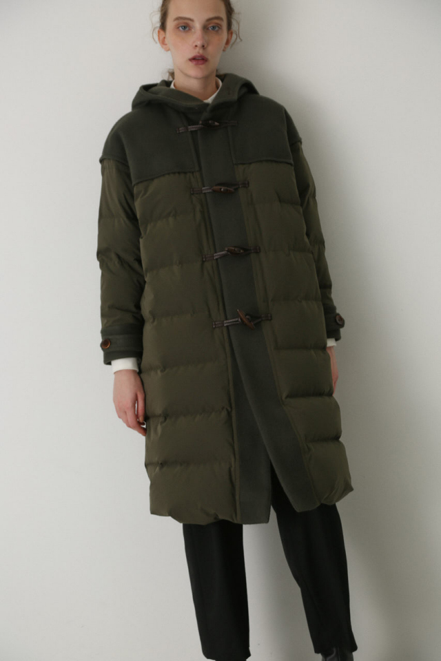 Wool docking down coat