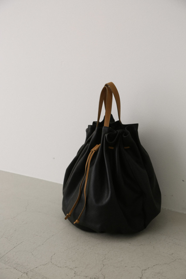 Soft leather round bag