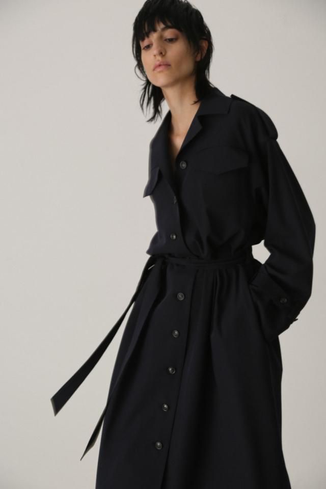 Trench one-piece coat