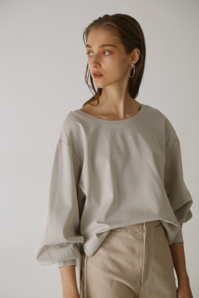 Back drape cut tops