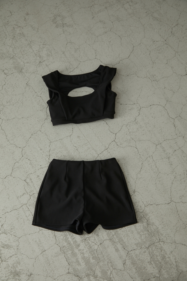 【予約】Square neck knit swim wear