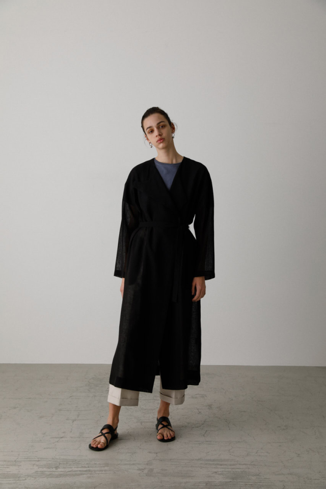 Front lapel summer gown