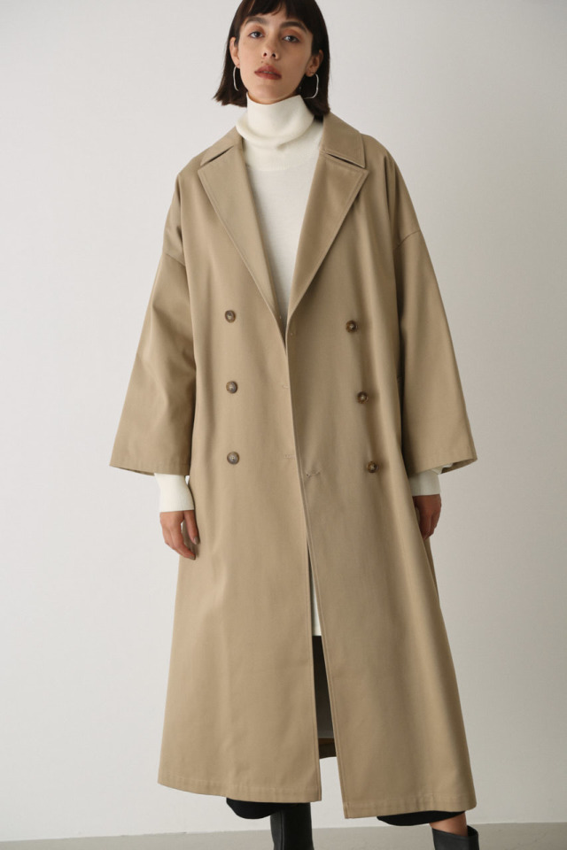 Wide volume spring coat