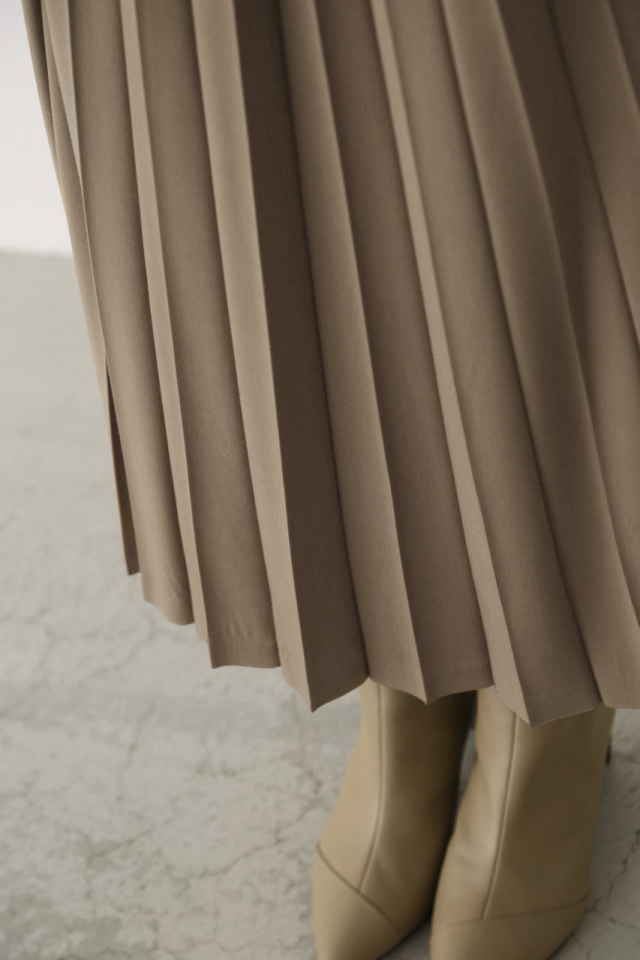 Half pleats long SK