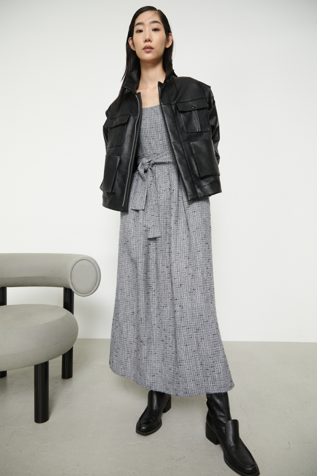 Basket tweed noble dress