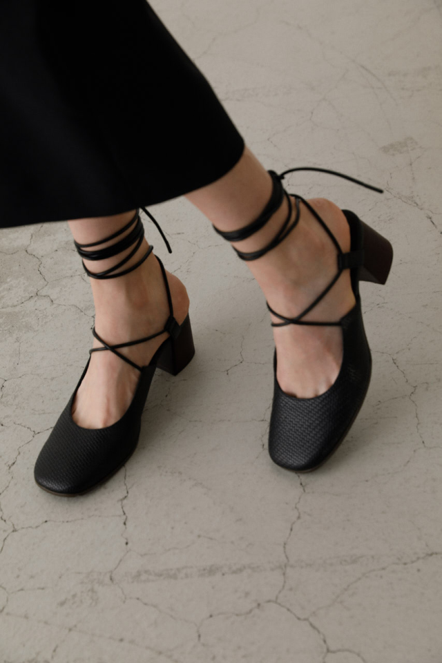Middle square heel